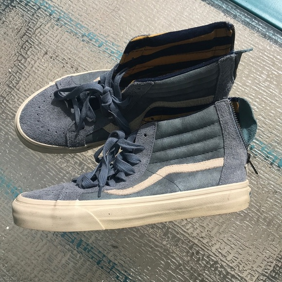 Vans Shoes   Hi Tops With Zipper   Poshmark
